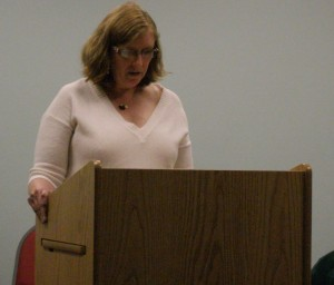 Featured reader at an evening of poetry at The Plains Library