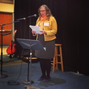 Reading at the Women Speak Event, Fall 2013, Baker Center on the Ohio University campus